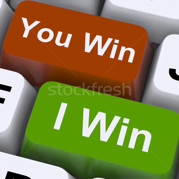 Vincere tasti show gioco d'azzardo vittoria Foto d'archivio © stuartmiles
