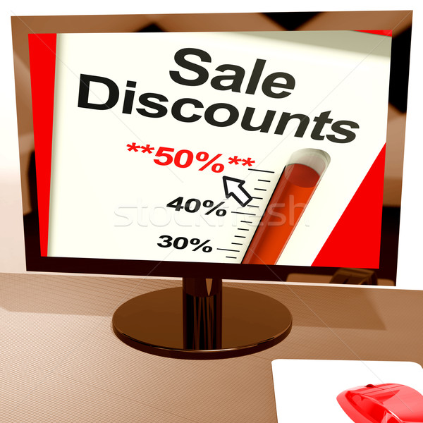 ötven százalék vásár mutat online előadás Stock fotó © stuartmiles