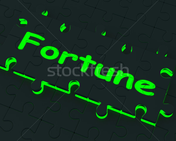 Fortune Puzzle Shows Good Luck Stock photo © stuartmiles