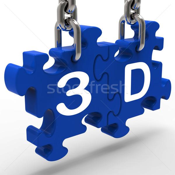 3D nagyfelbontású szórakoztatás előrelátás jelentés 3 dimenziós Stock fotó © stuartmiles