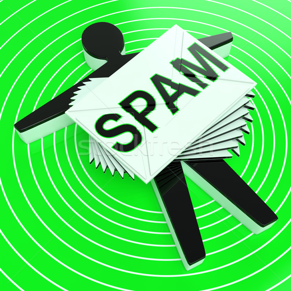 Stock photo: Spam Target Shows Junk Unsolicited Unwanted E-mail