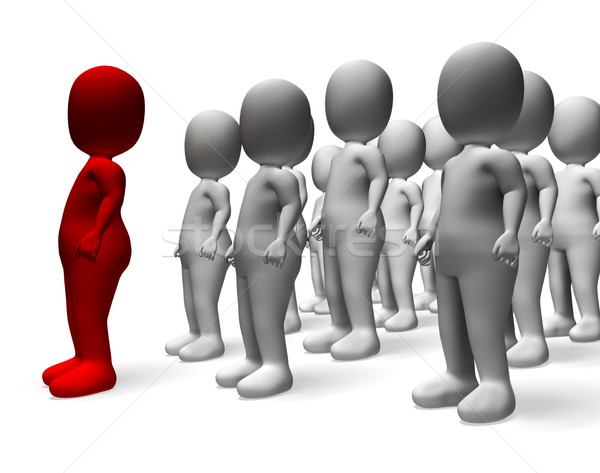 Man Leading 3d Character Shows Command And Leadership Stock photo © stuartmiles