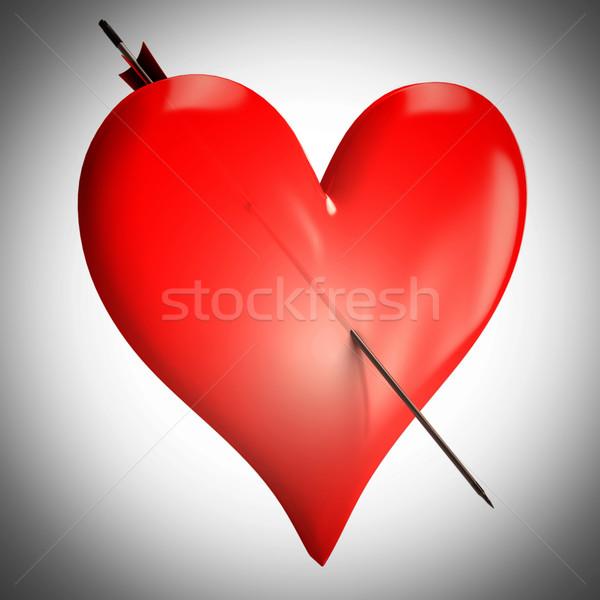 Rosso cuore romantica wedding Coppia amato Foto d'archivio © stuartmiles