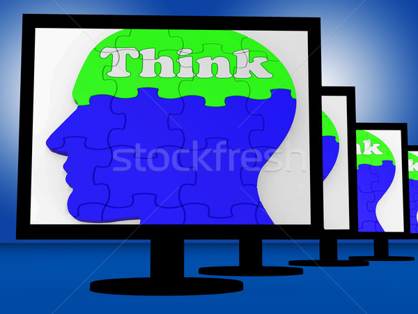 Crede creier uman ecran puzzle Imagine de stoc © stuartmiles