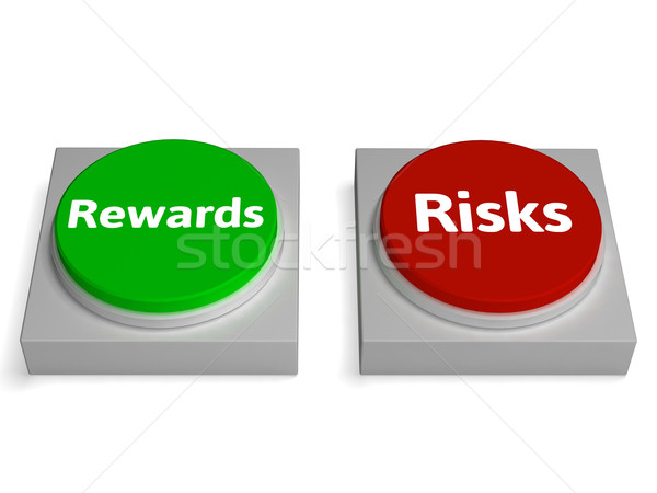 Risk Reward Buttons Shows Risks Or Rewards Stock photo © stuartmiles
