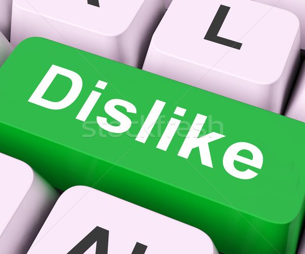 Dislike Key Means Hate Or Loathe