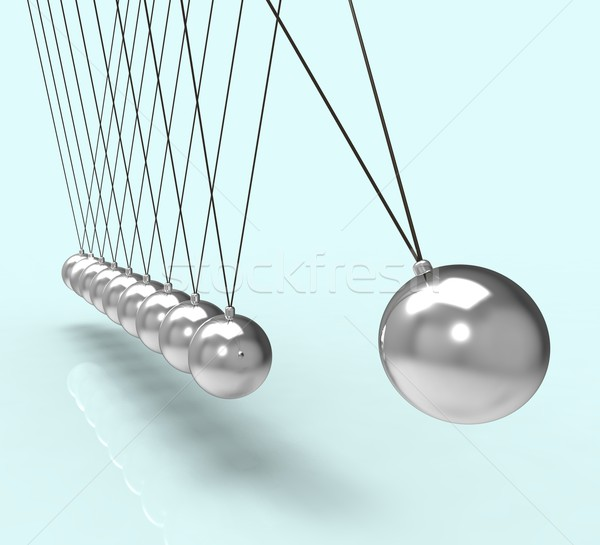 Newton Cradle Showing Energy And Gravity Stock photo © stuartmiles
