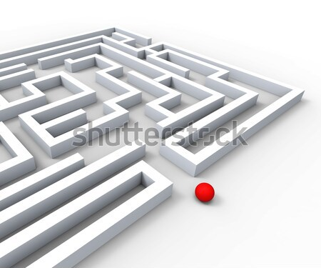 Challenging Maze Shows Complexity And Challenges Stock photo © stuartmiles