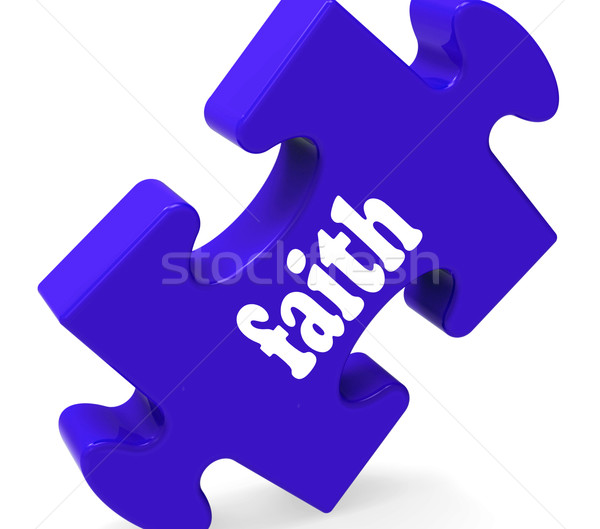 Faith Jigsaw Shows Religious Belief Or Trust Stock photo © stuartmiles