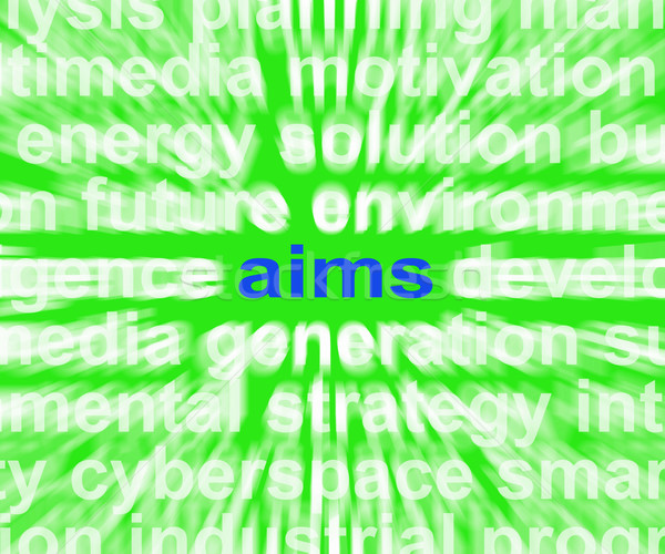 Aims Word Means Purpose Direction And Goals Stock photo © stuartmiles