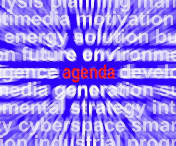 Agenda Word Means Program Schedule Or Line up Stock photo © stuartmiles
