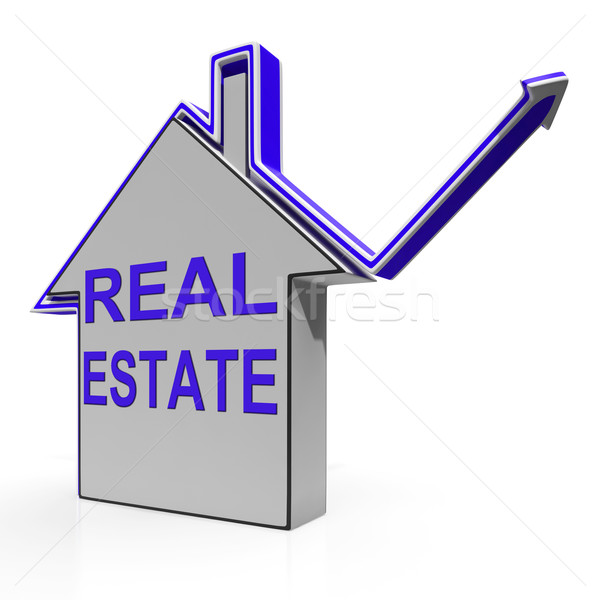Real Estate House Means Selling Or Buying Land And Property Stock photo © stuartmiles
