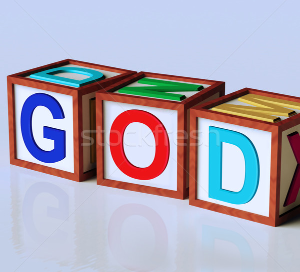 God Blocks Show Spirituality Religion And Believers Stock photo © stuartmiles