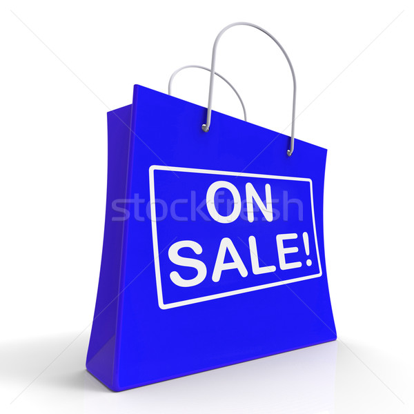 Stock photo: On Sale Shopping Bags Shows Bargains Savings