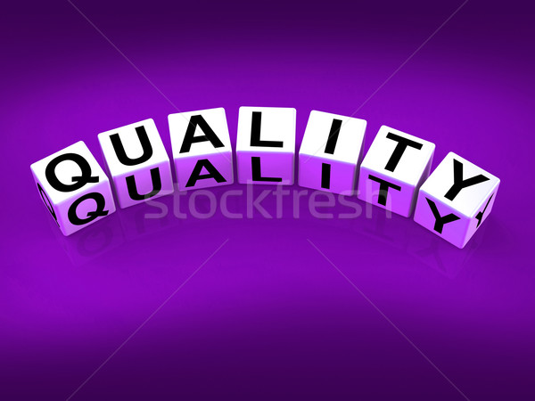Quality Blocks Mean Qualities Traits and Aspects Stock photo © stuartmiles
