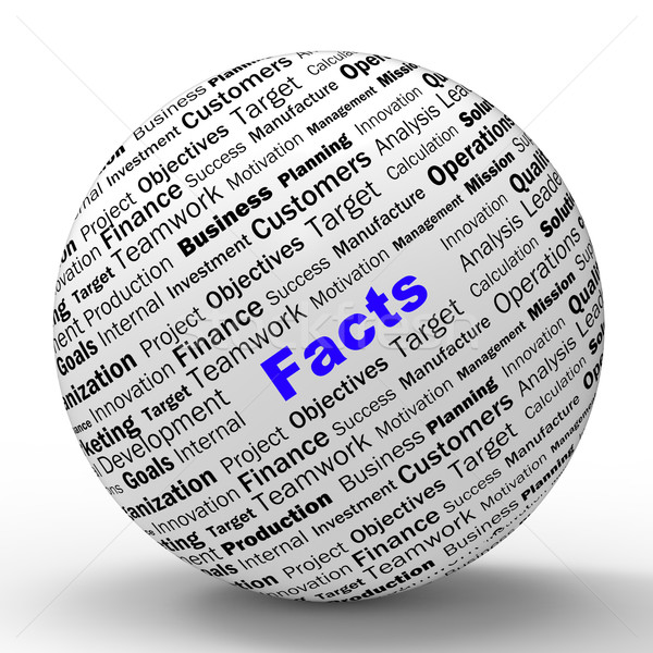 Facts Sphere Definition Means Truth And Wisdom Stock photo © stuartmiles