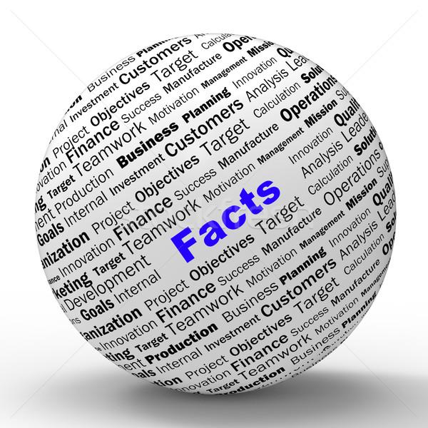 Fatos esfera definição verdade sabedoria honestidade Foto stock © stuartmiles