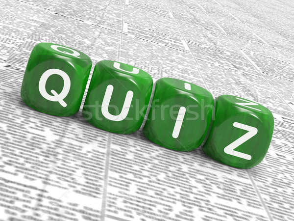 Quiz Dice Mean Correct Or Incorrect Answers Stock photo © stuartmiles