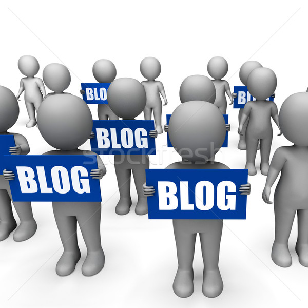 Blog sinais blogging Foto stock © stuartmiles
