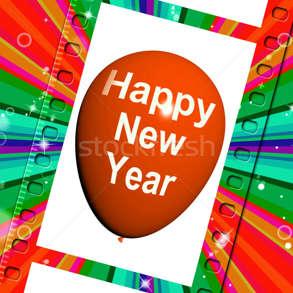 Happy New Year Balloon Shows Parties and Celebrations Stock photo © stuartmiles