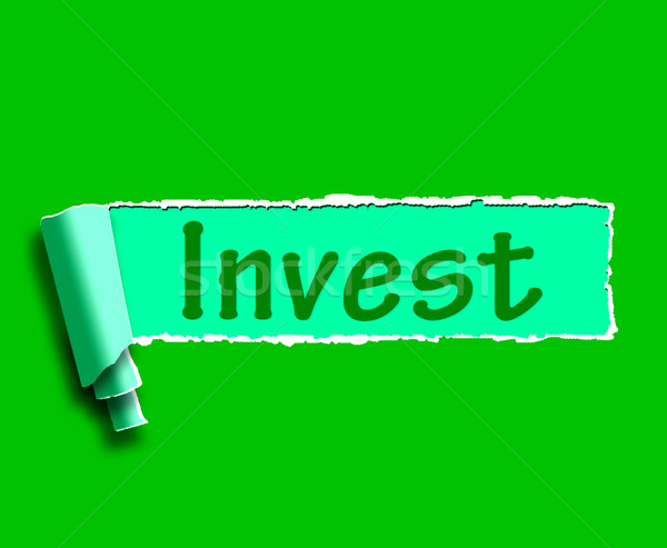 Invest Word Shows Internet Investment And Returns Stock photo © stuartmiles