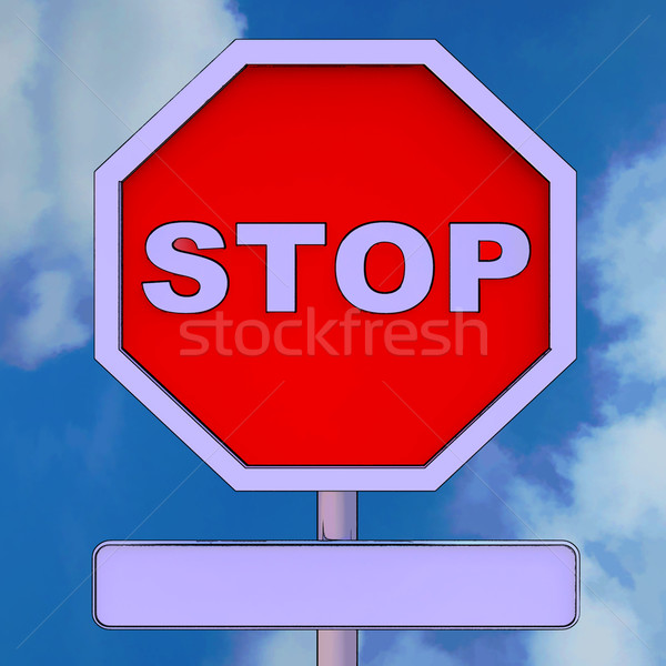Stop Sign With Blank Copy space For Message Stock photo © stuartmiles