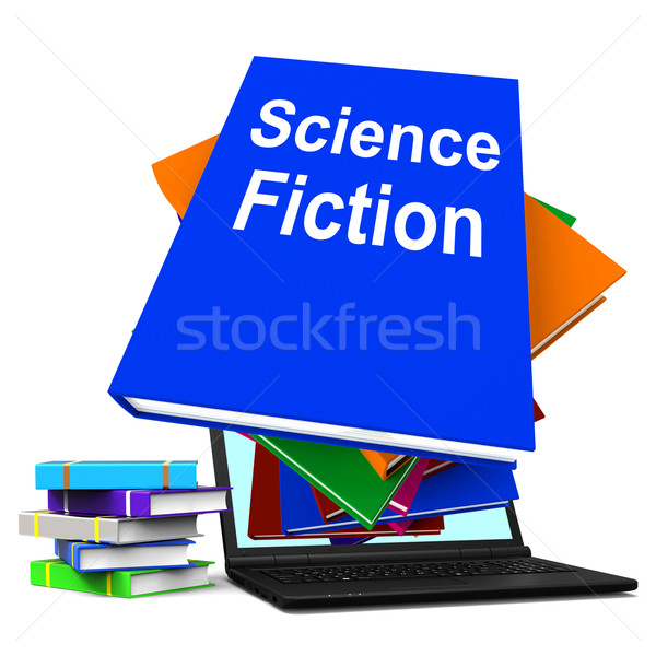 Science Fiction Book Stack Online Shows SciFi Books Stock photo © stuartmiles