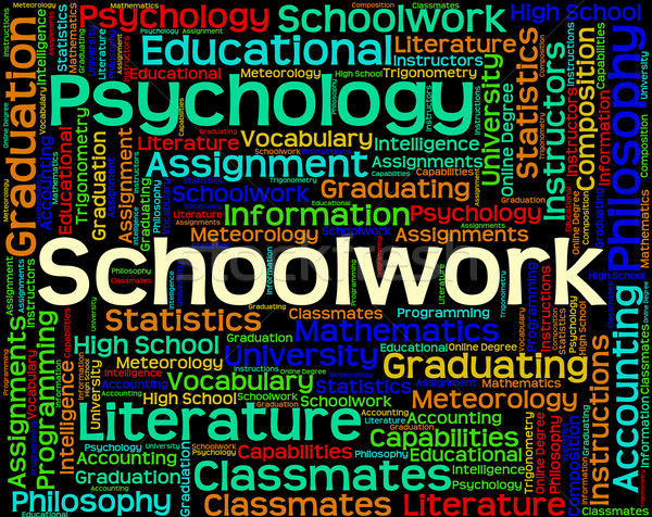 Schoolwork Word Shows Undertaking Words And Text Stock photo © stuartmiles