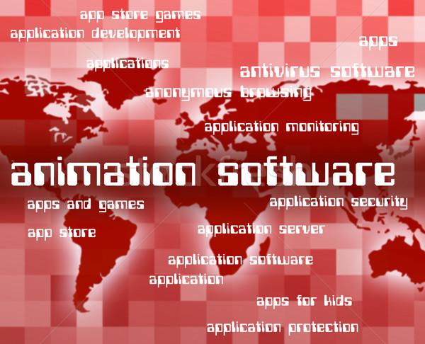 Animazione software testo Foto d'archivio © stuartmiles