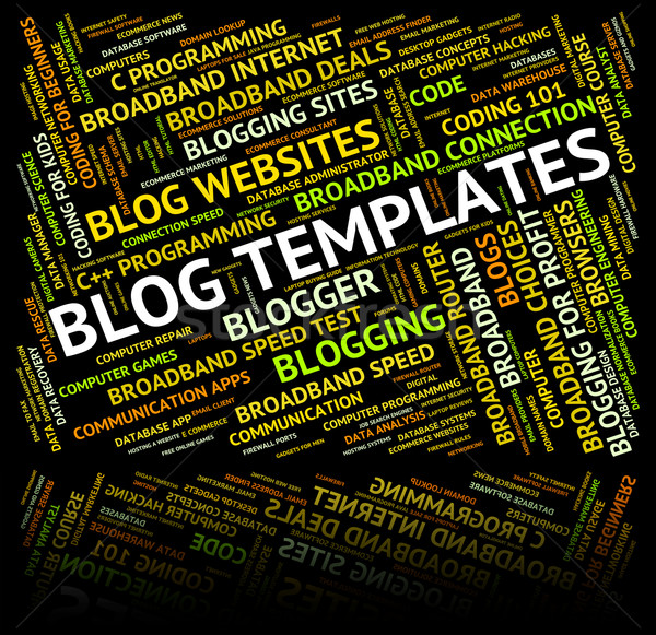 Blog Templates Represents Text Plans And Words Stock photo © stuartmiles