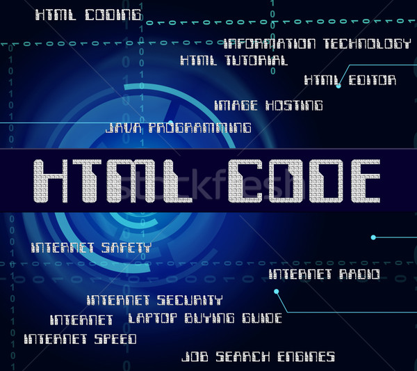 Html Code Shows Hypertext Markup Language And Cipher Stock photo © stuartmiles