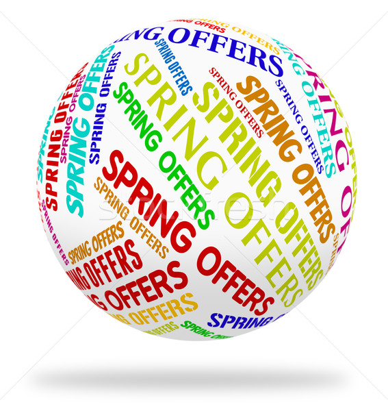 Spring Offers Shows Bargain Promo And Season Stock photo © stuartmiles