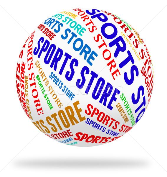 Sports Store Indicates Physical Activity And Buying Stock photo © stuartmiles