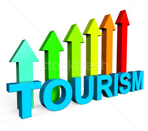 Tourism Increasing Represents Financial Report And Analysis Stock photo © stuartmiles