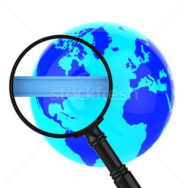 Zoek internet world wide web exemplaar ruimte betekenis Stockfoto © stuartmiles