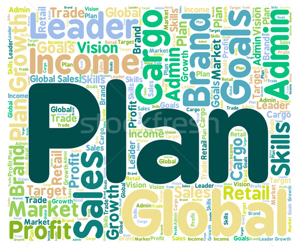 Plan Word Shows Schedule Agenda And Planning Stock photo © stuartmiles