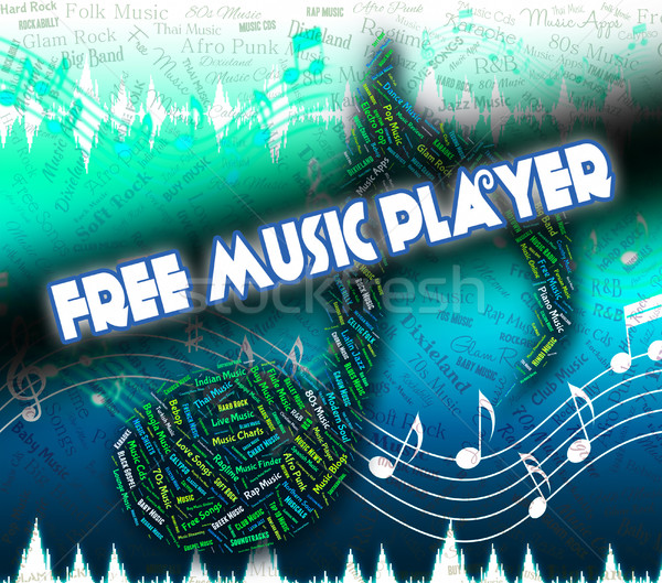 Free Music Player Indicates For Nothing And Complimentary Stock photo © stuartmiles