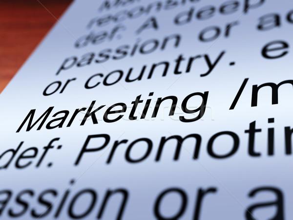 Сток-фото: маркетинга · определение · поощрения · продажи
