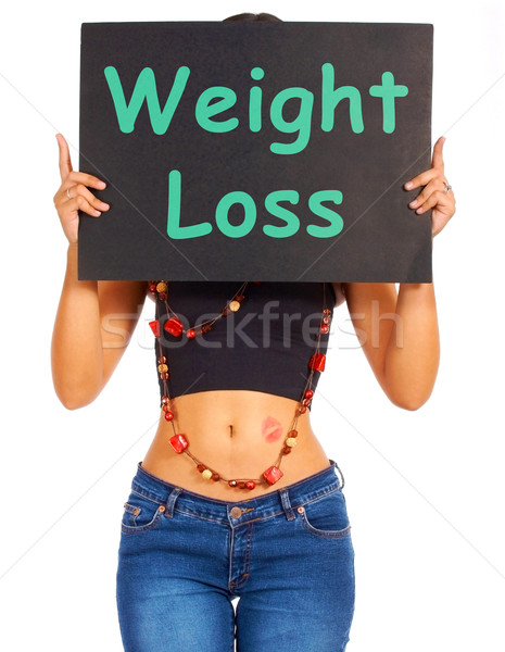 Weight Loss Sign Shows Dieting Advice Stock photo © stuartmiles