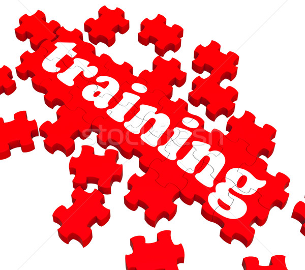 Training Puzzle Showing Business Coaching Stock photo © stuartmiles