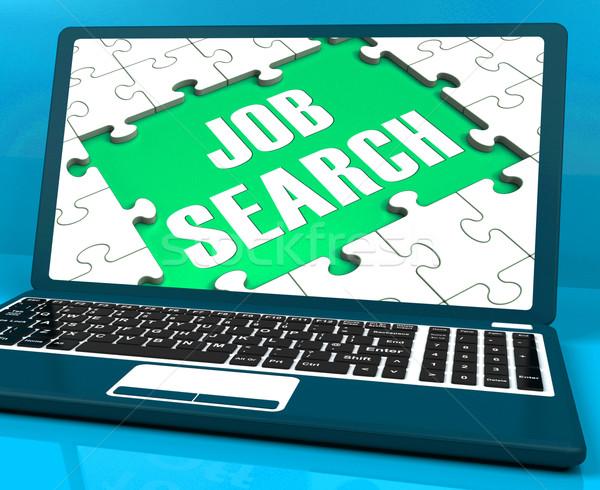 Búsqueda de empleo portátil línea reclutamiento Internet empleo Foto stock © stuartmiles