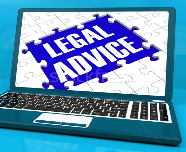 Legal Advice On Laptop Shows Criminal Justice Stock photo © stuartmiles