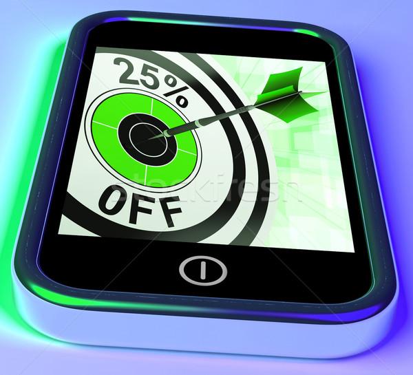 25 százalék el okostelefon kiválasztott telefon Stock fotó © stuartmiles