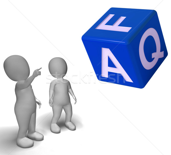 Faq Dice Showing Symbol For Information Or Assisting Stock photo © stuartmiles