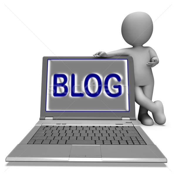 Blog portable blogging internet site Photo stock © stuartmiles