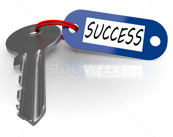 Key With Success Word Shows Winning Stock photo © stuartmiles