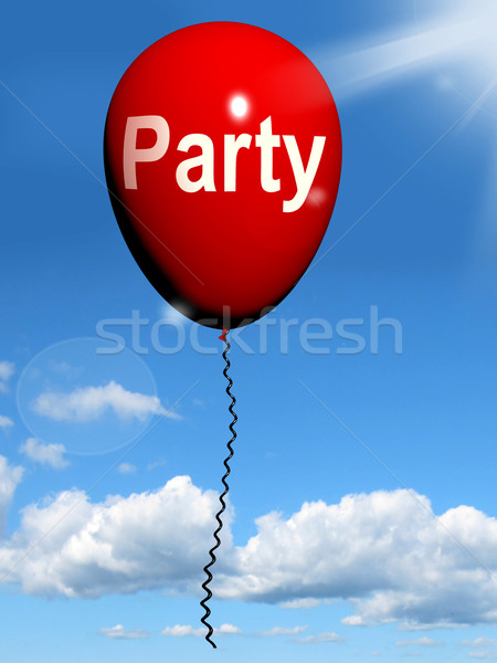 Party Balloon Represents Parties Events and Celebrations Stock photo © stuartmiles