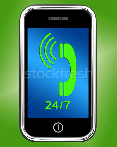 Twintig vier zeven telefoon Open tonen Stockfoto © stuartmiles