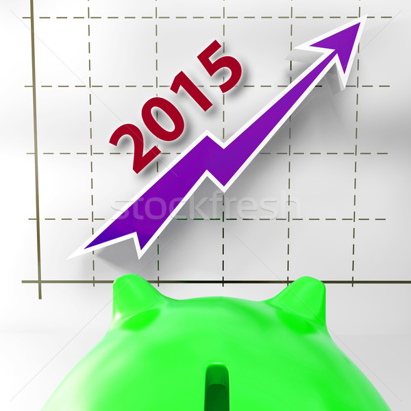 Graph 2015 Shows Financial Forecast Projecting Growth Stock photo © stuartmiles