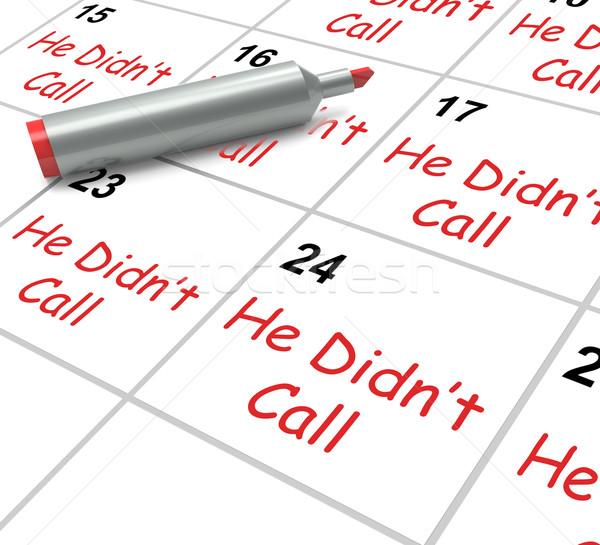 Llamada calendario decepción amor significado Foto stock © stuartmiles